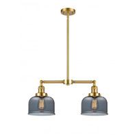 Innovations Lighting 209-SG-G73 Large Bell 2 Light 21 inch Satin Gold Island Light Ceiling Light