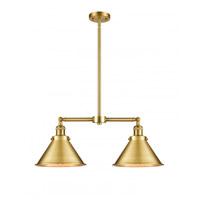 Innovations Lighting 209-SG-M10-SG Briarcliff 2 Light 21 inch Satin Gold Island Light Ceiling Light Franklin Restoration