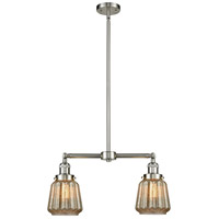 Innovations Lighting 209-SN-G146-LED Chatham LED 21 inch Brushed Satin Nickel Chandelier Ceiling Light