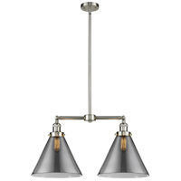 X-Large Cone LED 21 inch Brushed Satin Nickel Chandelier Ceiling Light