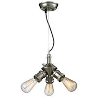 Innovations Lighting 209NH-SN Bare Bulb 2 Light 128 inch Brushed Satin Nickel Island Light Ceiling Light Franklin Restoration