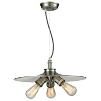 Signature 3 Light 18 inch Brushed Satin Nickel Pendant Ceiling Light