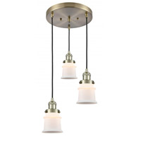 Polished Nickel Glass Small Canton Pendants