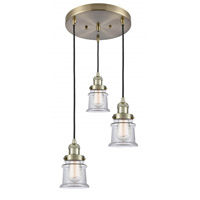 Innovations Lighting 211/3-AB-G182S Small Canton 3 Light 13 inch Antique Brass Multi-Pendant Ceiling Light Franklin Restoration