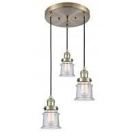Innovations Lighting 211/3-AB-G184S Small Canton 3 Light 13 inch Antique Brass Multi-Pendant Ceiling Light Franklin Restoration