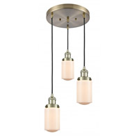 Innovations Lighting 211/3-AB-G311 Dover 3 Light 11 inch Antique Brass Multi-Pendant Ceiling Light Franklin Restoration