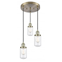 Innovations Lighting 211/3-AB-G312 Dover 3 Light 11 inch Antique Brass Multi-Pendant Ceiling Light Franklin Restoration