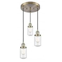 Innovations Lighting 211/3-AB-G314 Dover 3 Light 11 inch Antique Brass Multi-Pendant Ceiling Light Franklin Restoration