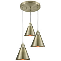 Innovations Lighting 211/3-AB-M13-AB Appalachian 3 Light 14 inch Antique Brass Multi-Pendant Ceiling Light Franklin Restoration