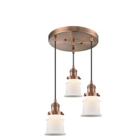 Innovations Lighting 211/3-AC-G181S Small Canton 3 Light 13 inch Antique Copper Multi-Pendant Ceiling Light Franklin Restoration