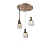 Innovations Lighting 211/3-AC-G52 Signature 3 Light 11 inch Antique Copper Multi-Pendant Ceiling Light, Small, Bell