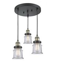 Innovations Lighting 211/3-BAB-G182S Small Canton 3 Light 13 inch Black Antique Brass Multi-Pendant Ceiling Light Franklin Restoration
