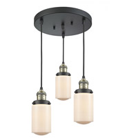 Innovations Lighting 211/3-BAB-G311 Dover 3 Light 11 inch Black Antique Brass Multi-Pendant Ceiling Light Franklin Restoration
