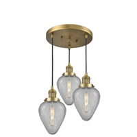 Innovations Lighting 211/3-BB-G165 Geneseo 3 Light 13 inch Brushed Brass Multi-Pendant Ceiling Light Franklin Restoration