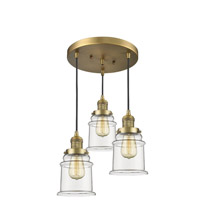 Brushed Brass Canton Pendants