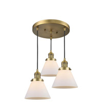 Innovations Lighting 211/3-BB-G41 Large Cone 3 Light 13 inch Brushed Brass Multi-Pendant Ceiling Light Franklin Restoration