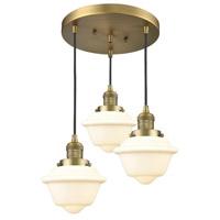 Innovations Lighting 211/3-BB-G531 Small Oxford 3 Light 14 inch Brushed Brass Multi-Pendant Ceiling Light Franklin Restoration