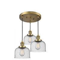 Innovations Lighting 211/3-BB-G74 Large Bell 3 Light 13 inch Brushed Brass Multi-Pendant Ceiling Light Franklin Restoration