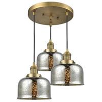 Innovations Lighting 211/3-BB-G78 Large Bell 3 Light 19 inch Brushed Brass Multi-Pendant Ceiling Light Franklin Restoration