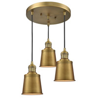 Innovations Lighting 211/3-BB-M9 Addison 3 Light 12 inch Brushed Brass Multi-Pendant Ceiling Light