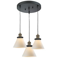 Innovations Lighting 211/3-BBB-G41 Signature 3 Light 13 inch Black and Brushed Brass Multi-Pendant Ceiling Light, Large, Cone