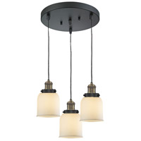 Innovations Lighting 211/3-BBB-G51 Signature 3 Light 11 inch Black and Brushed Brass Multi-Pendant Ceiling Light, Small, Bell