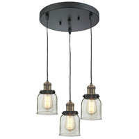 Innovations Lighting 211/3-BBB-G52 Signature 3 Light 11 inch Black and Brushed Brass Multi-Pendant Ceiling Light, Small, Bell