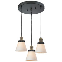 Innovations Lighting 211/3-BBB-G61 Signature 3 Light 12 inch Black and Brushed Brass Multi-Pendant Ceiling Light, Small, Cone