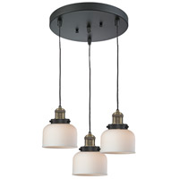 Innovations Lighting 211/3-BBB-G71 Signature 3 Light 13 inch Black and Brushed Brass Multi-Pendant Ceiling Light, Large, Bell