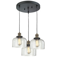 Innovations Lighting 211/3-BBB-G72 Signature 3 Light 13 inch Black and Brushed Brass Multi-Pendant Ceiling Light, Large, Bell