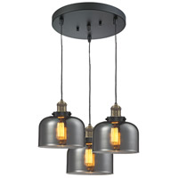 Innovations Lighting 211/3-BBB-G73 Signature 3 Light 13 inch Black and Brushed Brass Multi-Pendant Ceiling Light, Large, Bell