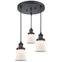 Innovations Lighting 211/3-BK-G181S Small Canton 3 Light 13 inch Matte Black Multi-Pendant Ceiling Light Franklin Restoration
