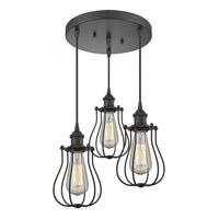 Innovations Lighting 211/3-OB-CE513-OB-LED Barrington LED 12 inch Oil Rubbed Bronze Multi-Pendant Ceiling Light Austere