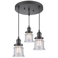 Innovations Lighting 211/3-OB-G184S Small Canton 3 Light 13 inch Oil Rubbed Bronze Multi-Pendant Ceiling Light Franklin Restoration