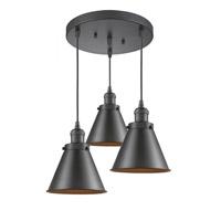 Innovations Lighting 211/3-OB-M13-OB Appalachian 3 Light 14 inch Oil Rubbed Bronze Multi-Pendant Ceiling Light Franklin Restoration