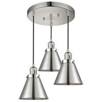 Innovations Lighting 211/3-PN-M13-PN Appalachian 3 Light 14 inch Polished Nickel Multi-Pendant Ceiling Light Franklin Restoration