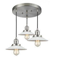 Innovations Lighting 211/3-SN-G1 Halophane 3 Light 17 inch Brushed Satin Nickel Multi-Pendant Ceiling Light Franklin Restoration