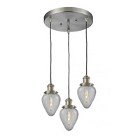 Innovations Lighting 211/3-SN-G165-LED Geneseo LED 13 inch Brushed Satin Nickel Multi-Pendant Ceiling Light Franklin Restoration