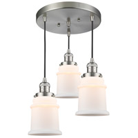 Brushed Satin Nickel Steel Canton Pendants