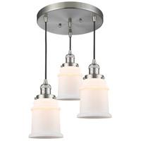 Innovations Lighting 211/3-SN-G181 Canton 3 Light 13 inch Brushed Satin Nickel Multi-Pendant Ceiling Light Franklin Restoration