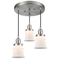 Brushed Satin Nickel Small Canton Pendants