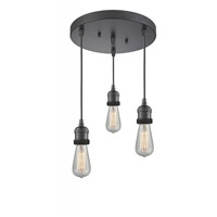 Innovations Lighting 211NH/3-OB Bare Bulb 3 Light 10 inch Oil Rubbed Bronze Multi-Pendant Ceiling Light