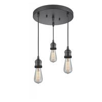 Innovations Lighting 211NH/3-OB Bare Bulb 3 Light 10 inch Oil Rubbed Bronze Multi-Pendant Ceiling Light