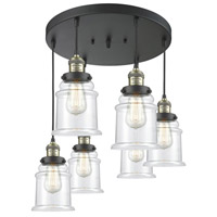 Black Antique Brass Glass Canton Pendants