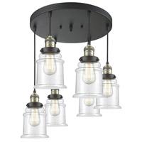 Innovations Lighting 212/6-BAB-G182 Canton 6 Light 14 inch Black Antique Brass Multi-Pendant Ceiling Light Franklin Restoration