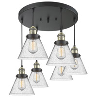 Innovations Lighting 212/6-BAB-G44 Large Cone 6 Light 13 inch Black Antique Brass Multi-Pendant Ceiling Light Franklin Restoration