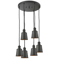 Addison 6 Light 12 inch Oil Rubbed Bronze Multi-Pendant Ceiling Light