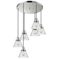 Innovations Lighting 212/6-PN-G44 Large Cone 6 Light 13 inch Polished Nickel Multi-Pendant Ceiling Light Franklin Restoration
