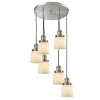 Signature 6 Light 13 inch Brushed Satin Nickel Multi-Pendant Ceiling Light, Small, Bell