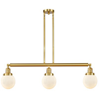 Innovations Lighting 213-SG-G201-6 Beacon 3 Light 39 inch Satin Gold Island Light Ceiling Light photo thumbnail